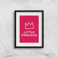 Little Princess Art Print - A3 - No Hanger - Princess Gifts
