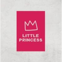 Little Princess Art Print - A3 - Print Only - Princess Gifts