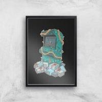 Arcade Tress Art Print - A3 - Black Frame