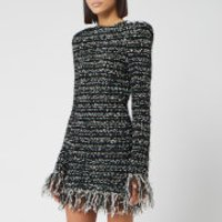 Balmain Women's Short Dark Pastel Tweed Dress - Black - FR 38/UK 10