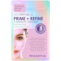 Skin Republic Face Sheet Mask Prime + Refine 3 Minute Primer 18ml (Pack of 10)
