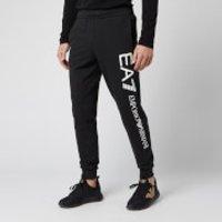Emporio Armani EA7 Men's Large Script Logo Sweatpants - Black/Gold - XL - Black