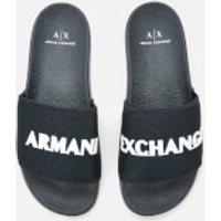 Armani Exchange Armani Exchange Men's Slide Sandals - Blue/Optical White - UK 9