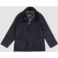 Barbour Boys Bedale Wax Jacket - Navy - L (10-11 Years)