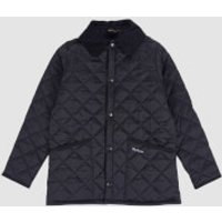 Barbour Boys Liddesdale Quilted Jacket - Black - S (6-7 Years)
