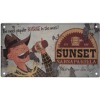 Fallout Sunset Sarsaparilla Metal Sign - Computer Games Gifts
