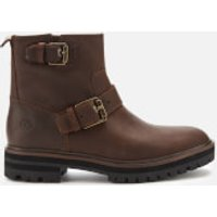 Timberland Women's London Square Biker Boots - Medium Brown Full Grain - UK 5
