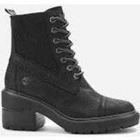 Timberland Women's Silver Blossom Mid Boots - Black Full Grain - UK 8