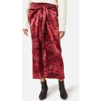 Ganni Women's Silk Stretch Satin Skirt - Samba - EU 42/UK 14
