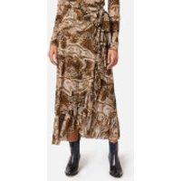 Ganni Women's Printed Mesh Skirt - Tiger's Eye - EU 38/UK 10