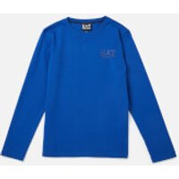 Emporio Armani EA7 Boys Train Core ID Long Sleeve T-Shirt - Mazarine Blue - 8 Years