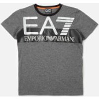 Emporio Armarni EA7 Boys Train Visibility Short Sleeve T-Shirt - Dark Grey Melange - 4 Years