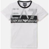 Emporio Armani EA7 Boys Train Visibility Short Sleeve T-Shirt - White - 8 Years