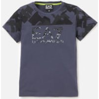Emporio Armani EA7 Boys Train Graphic Short Sleeve T-Shirt - Ombre Blue - 8 Years