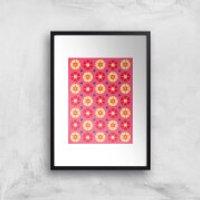 FLORAL PATTERN Art Print - A2 - White Frame
