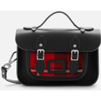 The Cambridge Satchel Company Womens Mini Satchel - Black with Strome Cunningham Tartan