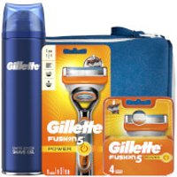 Gillette Fusion5 Power Shaving Kit with Wash Bag