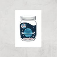 Space Jar Art Print - A4 - Print Only - Space Gifts