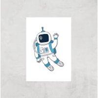 Astronaut Waving Art Print - A3 - Print Only