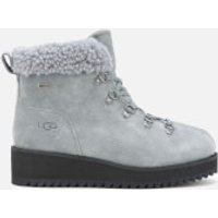 UGG Womens Birch Lace up Shearling Hiker Boots - Geyser - UK 3
