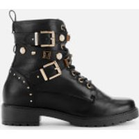 Dune Womens Popular Leather Lace Up Boots - Black - UK 7