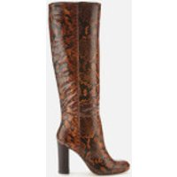 Dune Women's Simonne Leather Knee High Boots - Reptile Print - UK 5