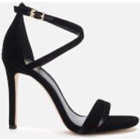 MICHAEL MICHAEL KORS Women's Antonia Velvet Heeled Sandals - Black - UK 3