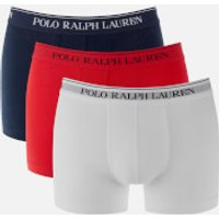 Polo Ralph Lauren Men's 3 Pack Classic Trunk Boxers - Red/White/Navy - S