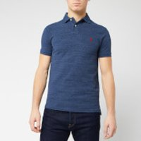 Polo Ralph Lauren Men's Slim Fit Short Sleeved Polo Shirt - Royal Heather - XXL