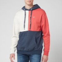 Tommy Jeans Men's Contrast Sleeve Hoodie - Black Iris Heather/Multi - S