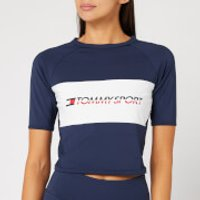 Tommy Hilfiger Sport Women's Cropped Blocked T-Shirt - Sport Navy - S