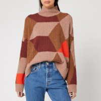 Whistles Women's Cable Intarsia Wool Knit Jumper - Multi - L