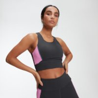 MP Power Womens Longline Crop Top - Slate - XS