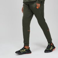 MP Rest Day Men's Piped Calf Joggers - Army Green - XL
