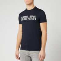 Emporio Armani Men's Script Chest Logo T-Shirt - Navy - M
