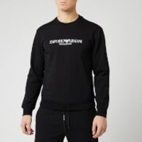 Emporio Armani Men's Chest Script Logo Sweatshirt - Black - M
