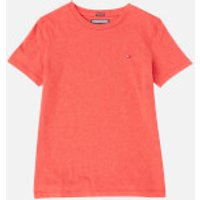 Tommy Hilfiger Boys Basic Short Sleeve T-Shirt - Apple Red Heather - 8 Years