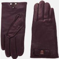 Ted Baker Women's Bblake Bow Gloves - Oxblood - M/L