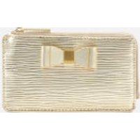 Ted Baker Women's Blue Bow Detail Card Holder - Gold