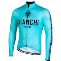 Bianchi Carpegna Long Sleeve Jersey - L - Celeste