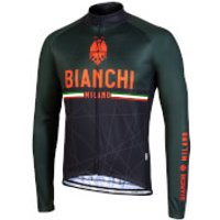 Bianchi Valsenio Long Sleeve Jersey - M - Green/Red