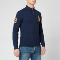 Polo Ralph Lauren Men's Long Sleeve Big Polo Shirt - Newport Navy/Gold - M