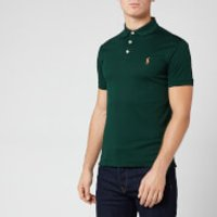 Polo Ralph Lauren Men's Pima Soft Touch Slim Fit Short Sleeve Polo Shirt - College Green - S