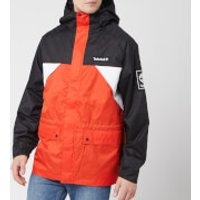 Timberland Men's Outdoor Archive Weather Breaker Coat - White/Spicy Orange/Black - L