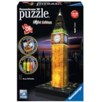 Ravensburger Big Ben Night Edition 3D Jigsaw Puzzle (216 Pieces) - Jigsaw Puzzle Gifts