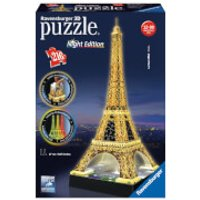 Ravensburger Eiffel Tower Night Edition 3D Jigsaw Puzzle (216 Pieces) - Jigsaw Puzzle Gifts