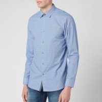 Ted Baker Mens Femme Cotton Geo Print Long Sleeve Shirt - Blue - L/4