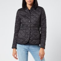 Barbour Women's Deveron Quilt Jacket - Black/Olive - UK 16