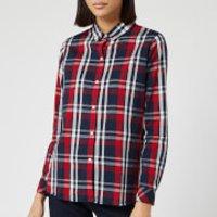 Barbour Women's Cheviot Long Sleeve Shirt - Navy Check - UK 14