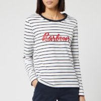 Barbour Women's Kielder Short Sleeve T-Shirt - White/Navy - UK 10